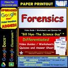 Bill Nye - Forensics – Worksheet, Answer Sheet, and Two Quizzes.