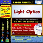 Bill Nye - Light Optics – Worksheet, Answer Sheet, and Two
