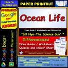 Bill Nye - Ocean Life – Worksheet, Answer Sheet, and Two Quizzes.