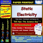 Bill Nye - Static Electricity – Worksheet, Answer Sheet, a