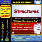 Bill Nye - Structures – Worksheet, Answer Sheet, and Two Q