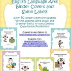 Binder Covers and Spine Labels for English/Language Arts -