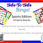Bingo - Side-To-Side  - Sports Vocabulary Game