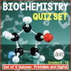 Biochemistry Quizzes - Set of 2 - The Chemistry of Biology