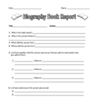 Biography Book Report with Project Grid