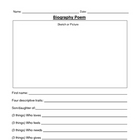 Biography Poem Sheet