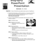 Biography PowerPoint Project