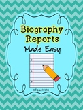 Biography Report Organizer