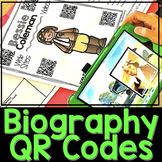 Biography Research Reports {QR Codes & Scaffolding}