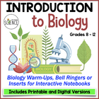 Biology Interactive Notebook, Warm Ups, Bell Ringers: Intr