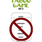 Biology Taboo Game Set 3