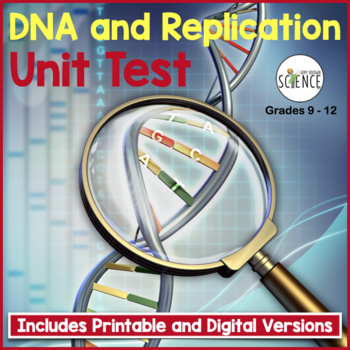 DNA and Replication Unit Test for Grades 8-12