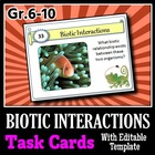 Biotic Interactions - Task Cards