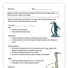Bird Informational Report Writing Sheets, 12 Total Pages!!