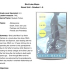 Bird Lake Moon - by Henkes - Novel Unit Grade 4 & 5