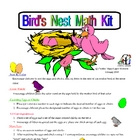 Birds Nest Math Kit