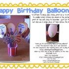 Birthday Balloons Printable Freebie!