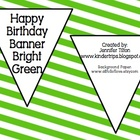 Birthday Banner Bright Green