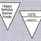 Birthday Banner Purple