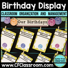 Birthday Display for the Classroom  {with Tips and Ideas f