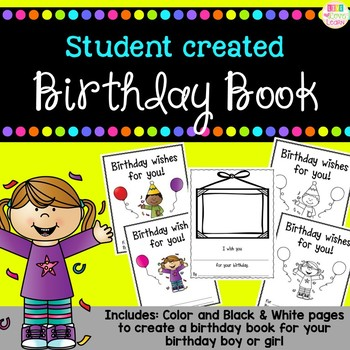 http://www.teacherspayteachers.com/Product/Birthday-Wishes-A-birthday-book-freebie-1274431