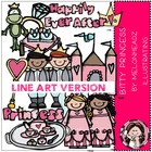 Bitty Princess  LINE ART bundle by melonheadz