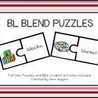 Bl Blends Puzzles ~ 18 Puzzles Plus Follow Up Activities