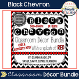 Black Chevron Classroom Decor: Editable Option (With a spl