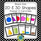 Black Dot 2D and 3D Solid Shapes Poster Set (Math Geometry)