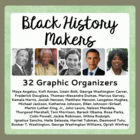 Black History Makers - 26 Graphic Organizers