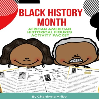 Black History Month:  African American Historical Figures Activity Pack