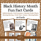 Black History Month Fact Cards - Unit Extension Activity,