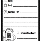 Black History Month - mini biography record sheets