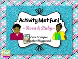 Black History Month~Rosa Parks and Ruby Bridges Activity Mats