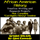 Black History Engaging Research Writing Project Menu! w/Bl
