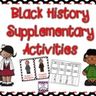 Black History Supplementary Activities