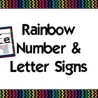 Black Rainbow Alphabet & Numbers