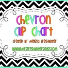 Black & White Chevron Behavior Clip Chart