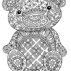 Black & White Detailed Bear Coloring Sheet