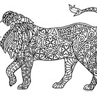 Black & White Detailed Lion Coloring Sheet