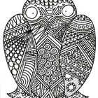 Black & White Detailed Owl Coloring Sheet