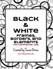 Black & White Graphics Clip Art Package