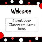 Black, White, & Red Themed Polka Dot Open House Powerpoint
