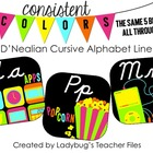 Black and Brights DN Cursive Alphabet Line (Consistent Colors)