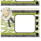 Black and Green Zebra Print Editable Avery ID labels for c