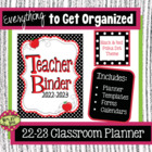 Black and Red Teacher Binder 2014-2015--Planners, Forms an