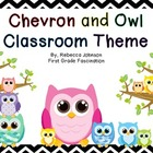 Black and White Chevron and Owl Calendar Classroom Super Pack