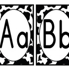 Black and White Cowprint Alphabet