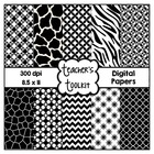 Black and White Digital Papers {8.5 x 11} Clip Art CU OK