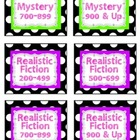 Black and White Polka Dot Classroom Library Labels